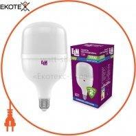 Лампа світлодіодна промислова PA20S TOR 38W E27 6500K алюмопластиковый корп. 18-0190