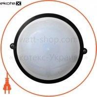 Светильник НПП-65 круг чёрный опал.ПП-1002-07-0/6 LED 12w