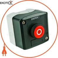 Пост кнопочный ENERGIO XAL-D112 СТОП красный NC