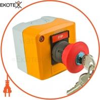Пост кнопочный ENERGIO XAL-D184 СТОП грибок с ключем красный NC