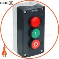 Пост кнопочный ENERGIO XAL-D363 ПУСК/СТОП/Индикатор NO+NC