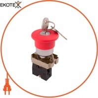 Кнопка «грибок» с ключем поворотная e.mb.bs142 красный, 1NC