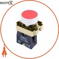 Кнопка без подсветки плоская e.mb.ba42 красная, без фиксации, 1NС