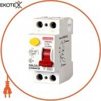 Выключатель дифференциального тока e.industrial.rccb.2.63.30, 2р, 63А, 30мА