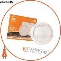 Светильник точечный врезной евросвет 12Вт круг LED-R-170-12 4200К