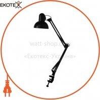 Настольный светильник Feron DE1430 черный на струбцине под лампу Е27