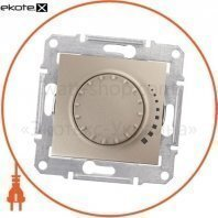 Sedna Светорегулятор поворотный, без рамки 325VA титан