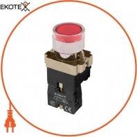 Кнопка с подсветкой e.mb.bw3461 красная, без фиксации, 1NC