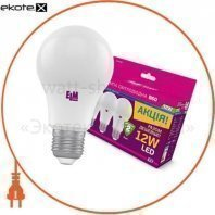 Комплект ламп светодиодных стандартных B60 PA10 12W E27 3000K 175-250V алюмопл. корп. 3шт. 18-0151