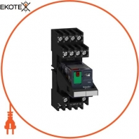 Miniature plug-in relay pre-assembled, 6 A, 4 CO, lockable test button, LED, mixed terminal socket, 24 V AC