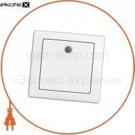 Выключатель одноклавишный с подсветкой WEGA 9121 белый