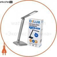 Светильник светодиодный настольный Delux TF-130 3000К/6000К 7Вт серебро