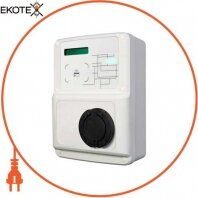 Станция для зарядки электромобилей CCL-WB-MIX-SMART 3.7 кВт 230В 16A Schuko + 22кВт 400В 32А Type2 розетка с фикс. одночасье. заряд
