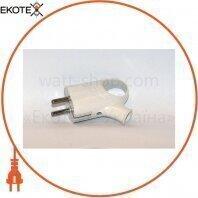 Вилка однофазна з вушком 16А Lumex