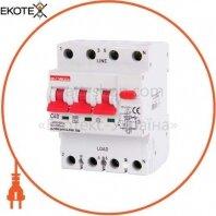 Выключатель дифференциального тока с функцией защиты от сверхтоков e.rcbo.pro.4.С40.100, 3P+N, 40А, С, тип А, 100мА