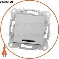 Sedna Переключатель 1 полюсный с 10AX индикатором, без рамки алюминиевый