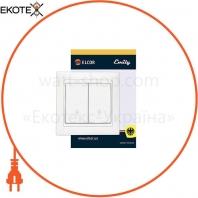 Выключатель 2-й проходной Emily 9215 белый ELCOR