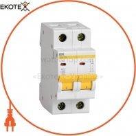 Автоматический выключатель ВА47-29 2Р 2А 4,5кА D IEK