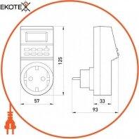 Enext i0310021 реле времени электронное розеточное e.control.t14