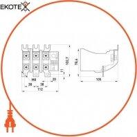 Enext i0110020 тепловое реле e.industrial.ukh.150.100.150, номин. ток 150а, диап. регул. 100-150 а