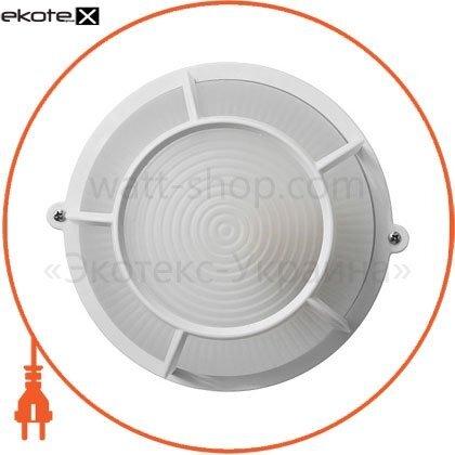 Ecostrum 72027 светильник нпп-65 круг белый опал.с решеткой пс-1051-11-4/1