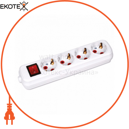 Horoz Electric 200-400-402 колодка 4 гнезда с заземлением и выключателем