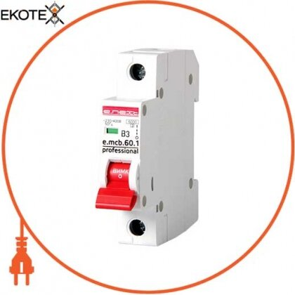 Enext p041003 модульный автоматический выключатель e.mcb.pro.60.1.b 3 new, 1р, 3а, в, 6ка, new