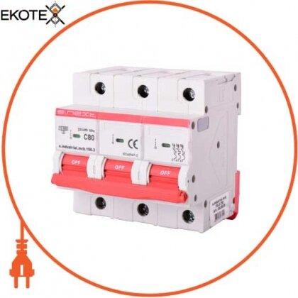 Enext i0630035 модульный автоматический выключатель e.industrial.mcb.150.3.c80, 3р, 80а, c, 15ка