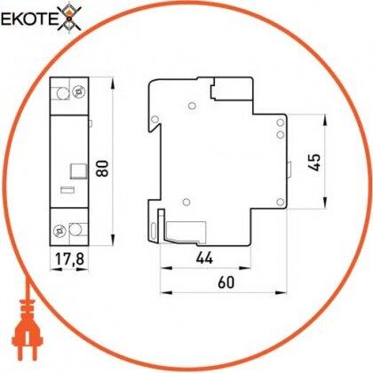Enext i0250002 независимый расцепитель e.industrial.acs.za.24, 12-110в