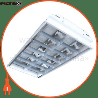 растровый встраиваемый 2*18 светильники вариант Вариант ЛПБ-2х18 ЛЭД