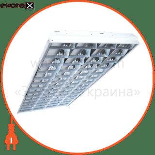 растровый встраиваемый 4*36 светильники вариант Вариант ЛПБ-4х36 ЛЭД