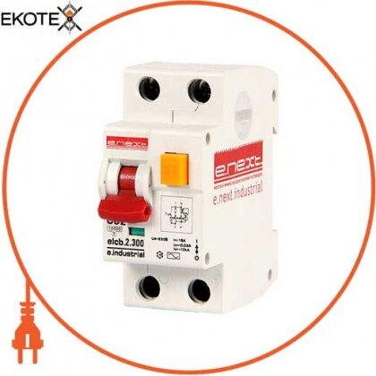 Enext i0230011 выключатель дифференциального тока (дифавтомат) e.industrial.elcb.2.c25.300, 2р, 25а, с, 300ма