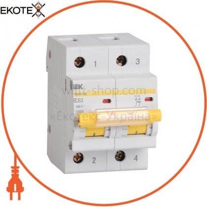 Автоматический выключатель ВА47-100 2Р 10А 10кА С IEK