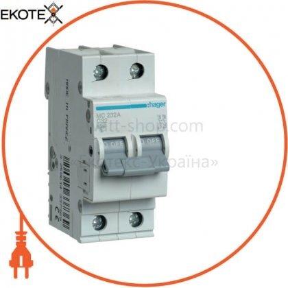 Hager MC232A автоматический выключатель 2p 6ka c-32a 2m