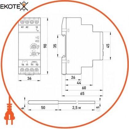 Enext i0310016 реле контролю температури e.control.h01, 16a, ас/dc 24-240, -5…+40 °с