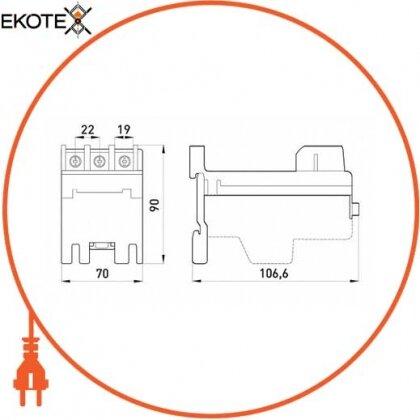 Enext i0120003 независимая основа теплового реле e.industrial.azh.85 для реле на 85а