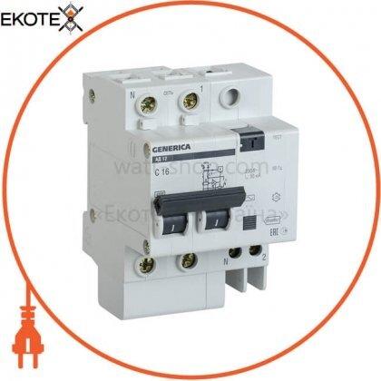 IEK MAD15-2-016-C-030 дифференциальный автоматический выключатель ад12 2р 16а 30ма generica