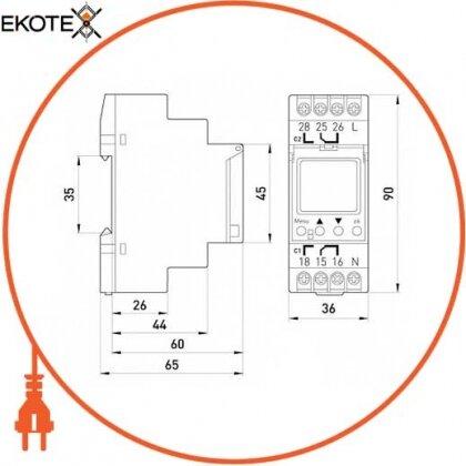 Enext i0310012 реле времени электронное двухканальное e.control.t09
