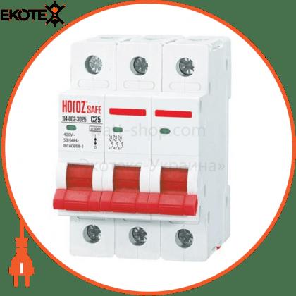 Horoz Electric 114-002-3025 модульный автоматический выключатель 3р 25а c 4,5ка 400v