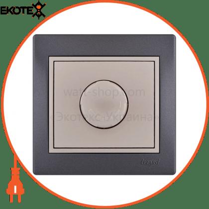 Lezard 701-2930-116 диммер 500 вт с фильтром 701-2930-116 цвет темно-серый/жемчужно-белый металлик 10ах 250v~
