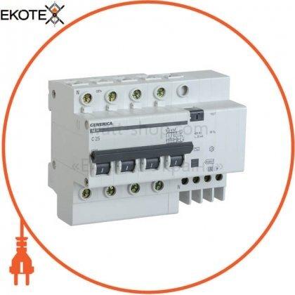 IEK MAD15-4-025-C-030 дифференциальный автоматический выключатель ад14 4р 25а 30ма generica