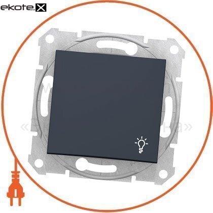 """Schneider SDN0900170 sedna кнопка 1полюсная, 10a с символом """"свет"""", без рамки графит"""