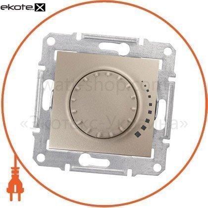 Schneider SDN2200768 sedna светорегулятор двунаправленный поворотно-нажимной, без рамки 325va титан