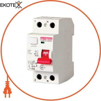 Enext p003007 выключатель дифференциального тока e.rccb.pro.2.80.30, 2р, 80а, 30ма