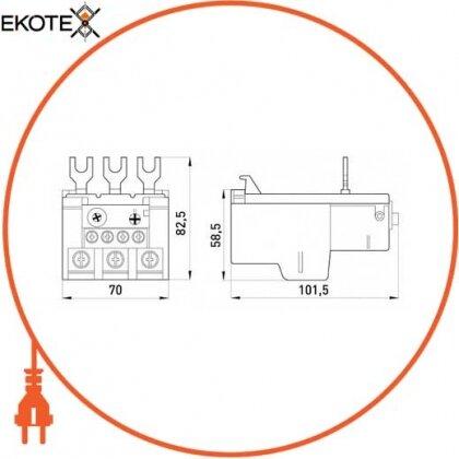 Enext i0110012 тепловое реле e.industrial.ukh.85.85, номин. ток 85а, диап. регул. 63-85 а